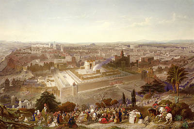 Jerusalem Drawing - Jerusalem In Her Grandeur by Henry Courtney Selous