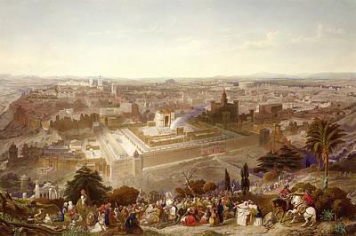 City Scenes Drawing - Jerusalem In Her Grandeur by Henry Courtney Selous