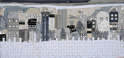 Mosaic Mixed Media - Jerusalem Is Not Black Or White by Reli Wasser