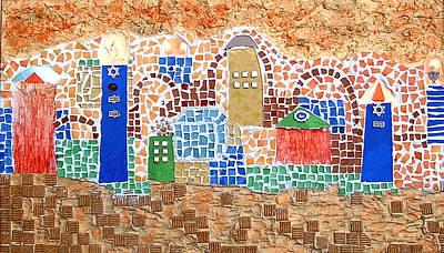 Israeli Mixed Media - Jerusalem Of Colors by Reli Wasser
