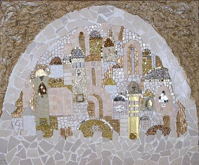 Mosaic Mixed Media - Jerusalem Of Hope by Reli Wasser