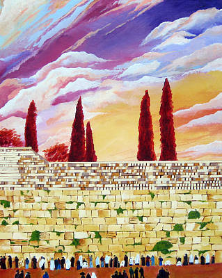 Purim Painting - Jerusalem Prayers by Dawnstarstudios