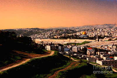 Photograph - Jerusalem Skyline by Tom Griffithe