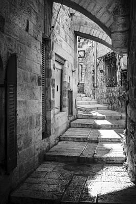Jerusalem Street Art Print by Alexey Stiop