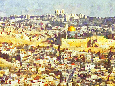 Digital Art - Jerusalem Sunrise by Digital Photographic Arts
