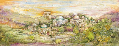Jerusalem Painting - Jerusalem Sunset by Michoel Muchnik
