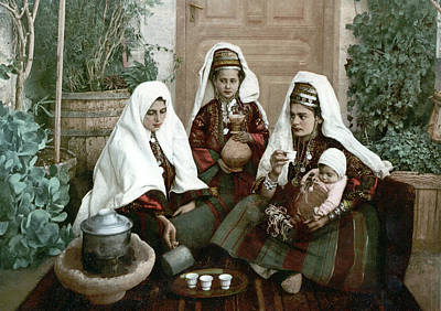 Tea Service Painting - Jerusalem Tea Service by Granger