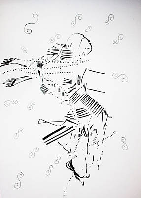 Drawing - Jerusarema Or Mbende Dance - Zimbabwe by Gloria Ssali