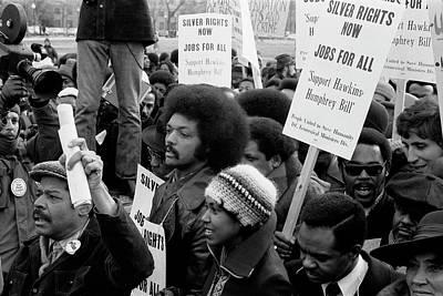 Discrimination Photograph - Jesse Jackson Surrounded By Marchers by Stocktrek Images