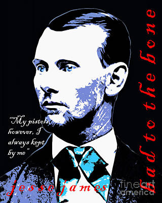 Photograph - Jesse James Bad To The Bone 20140914poster by Wingsdomain Art and Photography