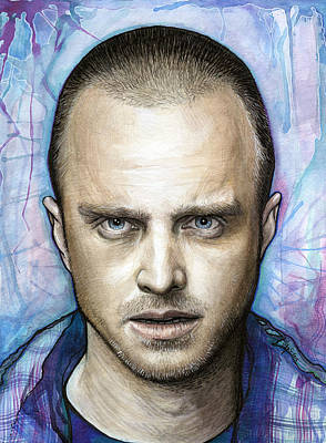 Heisenberg Painting - Jesse Pinkman - Breaking Bad by Olga Shvartsur