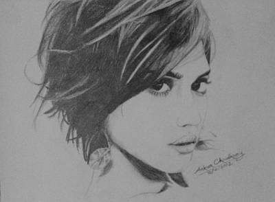 Jessica Alba Drawing - Jessica Alba by Ankur Choudhary