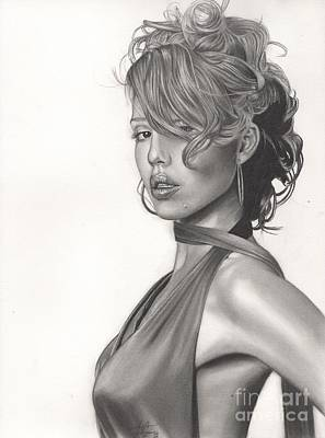 Jessica Alba Wall Art - Drawing - Jessica by Christian Conner