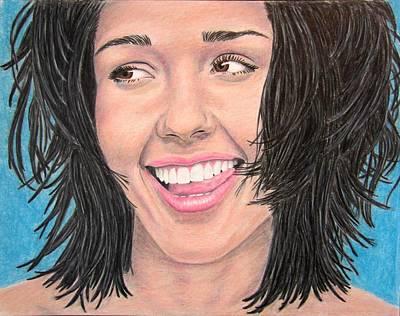 Jessica Alba Drawing - Jessica by Scott Larson