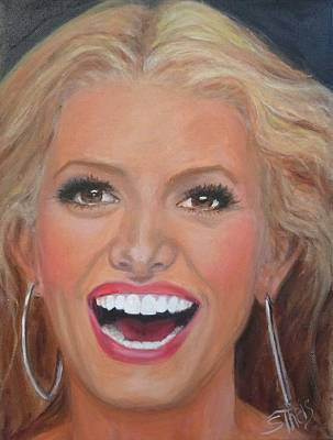 Painting - Jessica Simpson by Shirl Theis