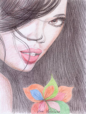 Drawing - Jessica White by M Valeriano