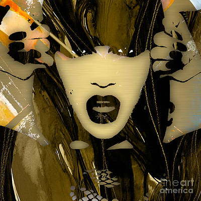 English Mixed Media - Jessie J Collection by Marvin Blaine