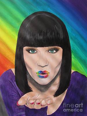 Christina Aguilera Painting - Jessie J by Jeepee Aero