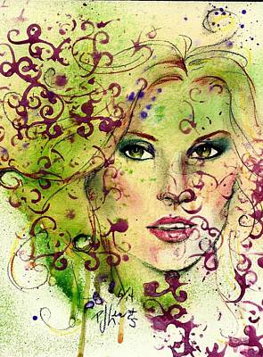 Beautiful Woman Mixed Media - Jessie by P J Lewis