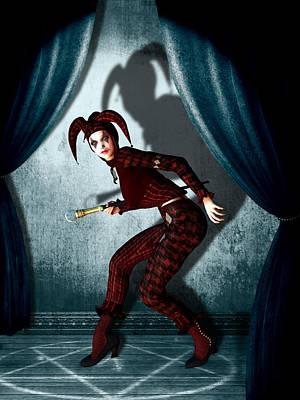 Clown Mixed Media - Jester by Britta Glodde