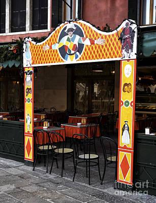 Jester Restaurant In Venice Art Print by John Rizzuto