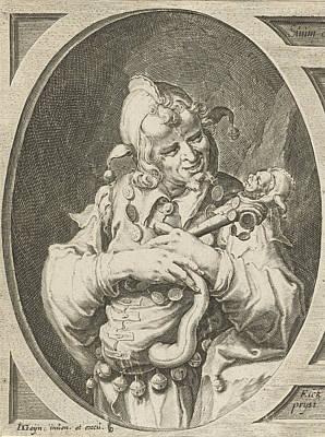 Jester With Fools Cap On The Head, Jacob De Gheyn II Art Print