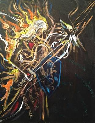 Jesus All Consuming Fire Art Print by Kristen Lasher