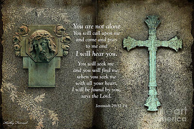 Photograph - Jesus And Cross - Inspirational - Bible Scripture by Kathy Fornal