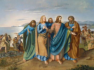 Disciples Painting - Jesus And His Disciples At The Sea Of Galilee by Carl Oesterley