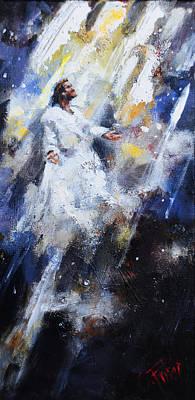 Jesus Ascending Original by Carole Foret