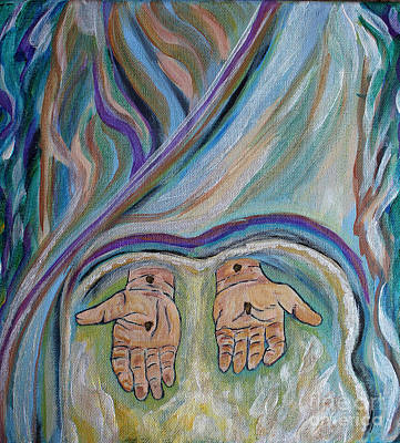 Painting - Jesus - Believe And Follow Me  by Ella Kaye Dickey