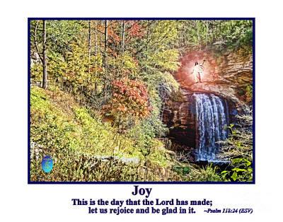 Smiling Jesus Digital Art - Jesus Blessing Colorful Autumn by John K Giarratano