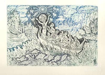 Jesus Calming The Storm Original by Milen Litchkov