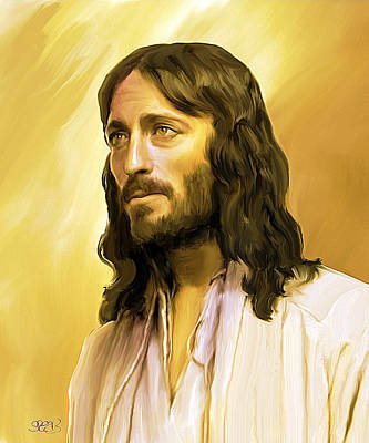 Jesus Cares Art Print