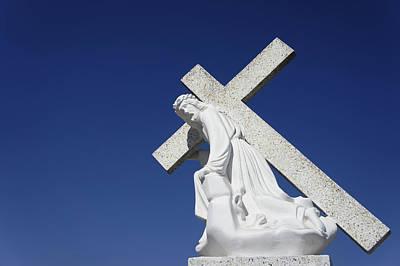 Jesus Carrying A Cross Art Print