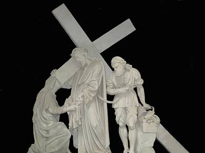 Christ Photograph - Jesus Carrying Cross  by Art Spectrum