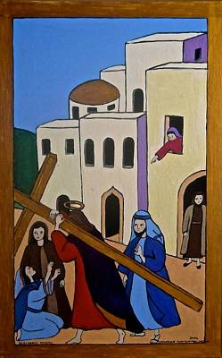 Painting - Jesus Carrying The Cross by Stephanie Moore