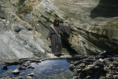 Jesus Christ At The Pond Art Print