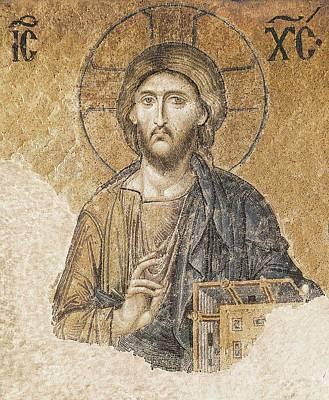 Jesus Christ Blessing. 11th C. Turkey Art Print by Everett