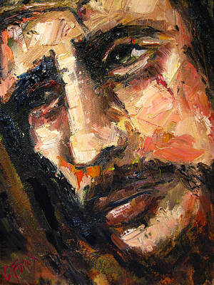 Caravaggio Painting - Jesus Christ by Carole Foret