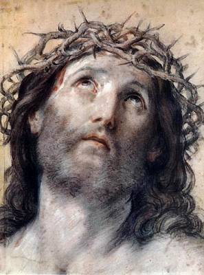 Digital Art - Jesus Christ Crown Of Thorne by Guido Reni