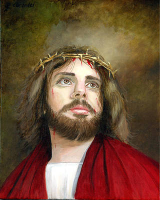 Religious Artist Painting - Jesus Christ Crown Of Thorns by Cecilia Brendel
