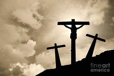 Golgotha Photograph - Jesus Christ Crucified In Golgotha by Jose Elias - Sofia Pereira