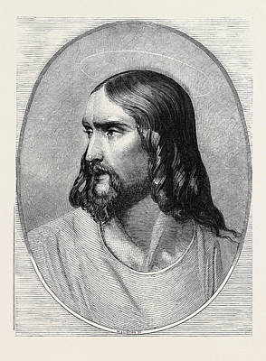 Jesus Drawing - Jesus Christ by Hippolyte De La Roche (1797-1856), Also Paul Delaroche, French