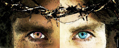 Holy Digital Art - Jesus Christ - How Do You See Me by Sharon Cummings
