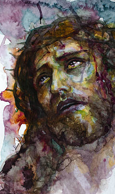 Art Print featuring the painting Jesus Christ by Laur Iduc