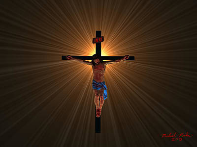 Digital Art - Jesus Christ by Michael Rucker