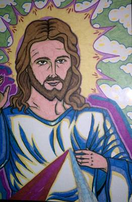 Revelation Drawing - Jesus Christ by Michael Toth