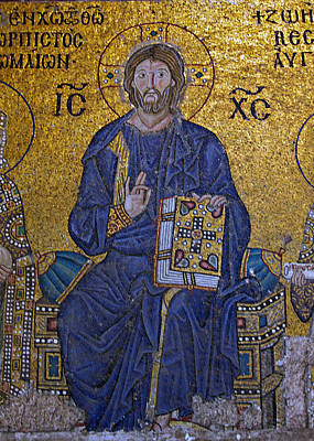 Jesus Christ Mosaic Art Print by Stephen Stookey