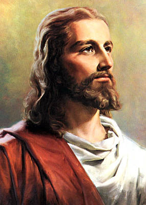 Religious Photograph - Jesus Christ by Munir Alawi